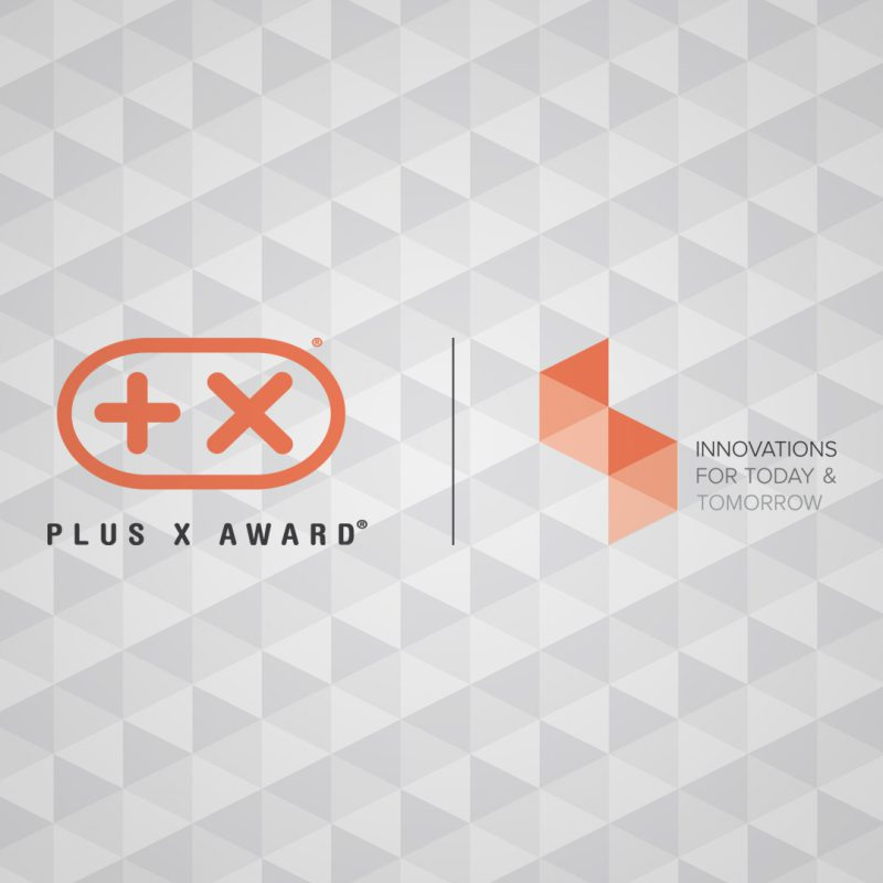 "Logo des Plus X Award und Markenclaim ""Innovations for today and tomorrow"