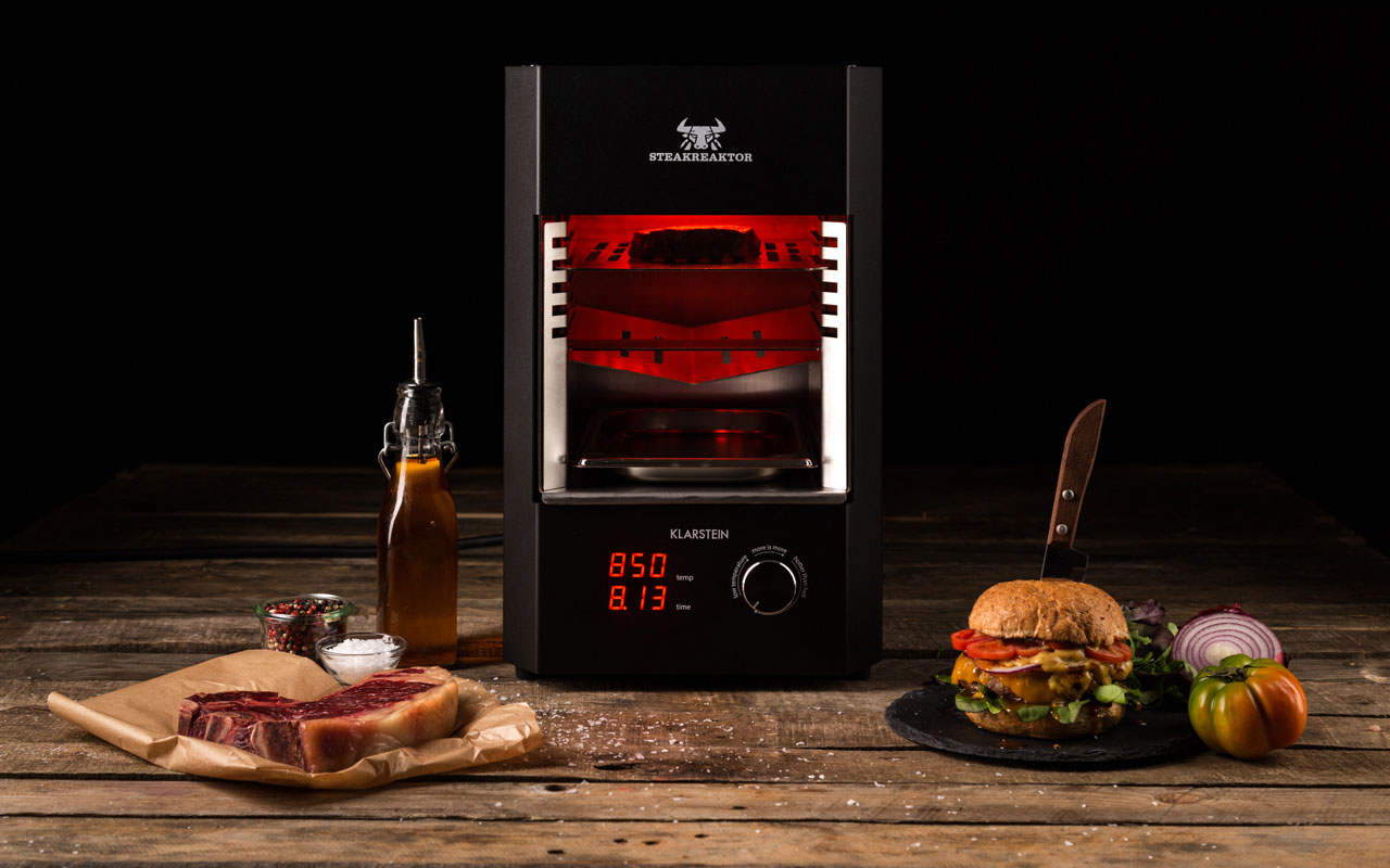 klarstein steakreaktor 2 0 plus x award. Black Bedroom Furniture Sets. Home Design Ideas